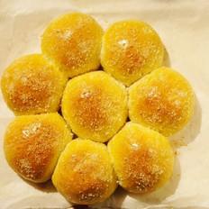 梅花芸豆馅面包