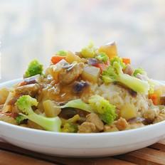 黄咖喱鸡肉饭