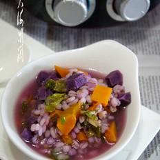 青稞米蔬菜粥