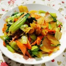 清炒油菜土豆片