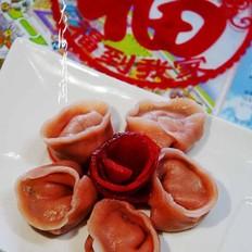 香菇馅百合水饺