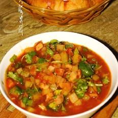 番茄土豆炒肉丁