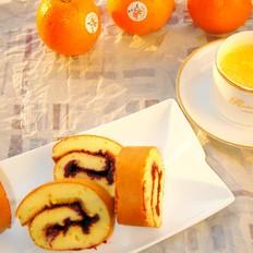 橙香蛋糕卷的做法