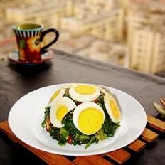 麻将菠菜拌鸡蛋