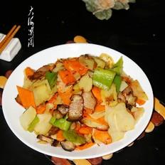 腊肉炒土豆片