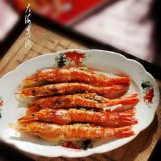 蒜蓉开背烤虾