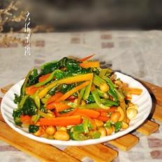 凉拌胡萝卜花生菠菜
