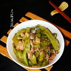哈拉巴肉炖油豆角