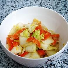 白菜爆炒胡萝卜