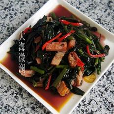 红苋菜炒肉