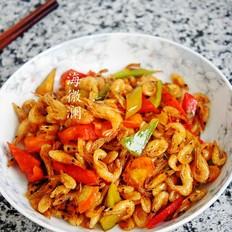 青椒炒小河虾