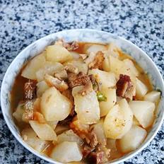 白萝卜炖香猪肉
