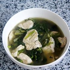 油麦菜豆腐汤