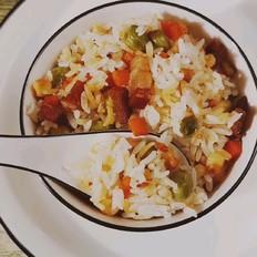 腊肉蔬菜焖饭