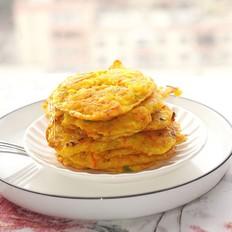 胡萝卜嫩玉米饼