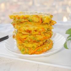 白米饭蔬菜饼