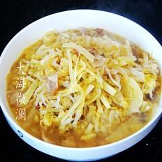 酸菜猪肉炖土豆