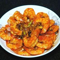 葱姜炒大虾