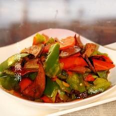 青椒胡萝卜炒猪肝