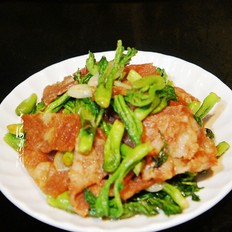 刺嫩芽炒培根肉
