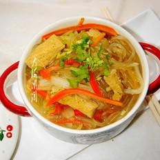 白菜冻豆腐炖粉条