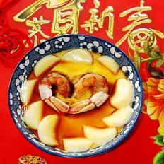 玉子豆腐蒸凤尾虾