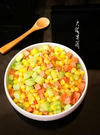 嫩玉米粒炒火腿肠的做法
