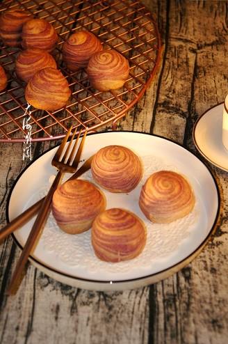 紫薯椰蓉酥皮月饼的做法