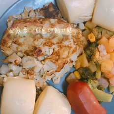 海鲜菇蛋饼