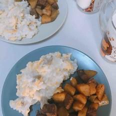 牛肉萝卜炖土豆
