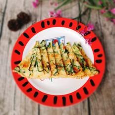 虾皮油菜鸡蛋饼