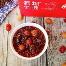 桂圆红枣黑米粥