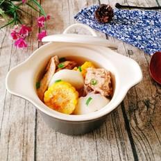 萝卜玉米土鸡汤