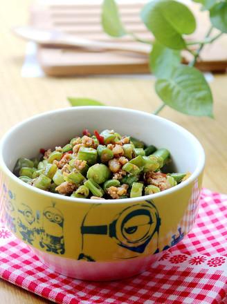 肉沫四季豆的做法