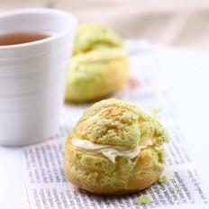 抹茶菠萝皮泡芙