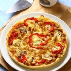 猪肉蘑菇披萨