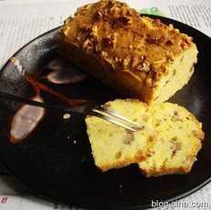 核桃橙皮磅蛋糕