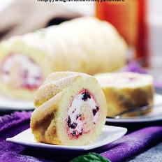 黑樱桃海绵蛋糕卷