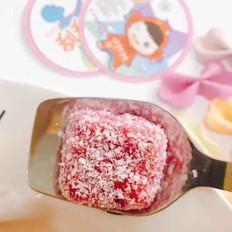 宝宝辅食  火龙果椰蓉糕
