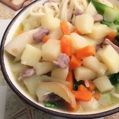 胡萝卜土豆臊子面