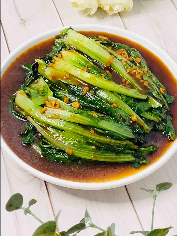 家常菜,酱拌油麦菜