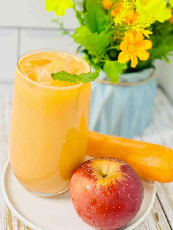 鲜榨苹果胡萝卜汁,加点它,大人小孩都爱喝