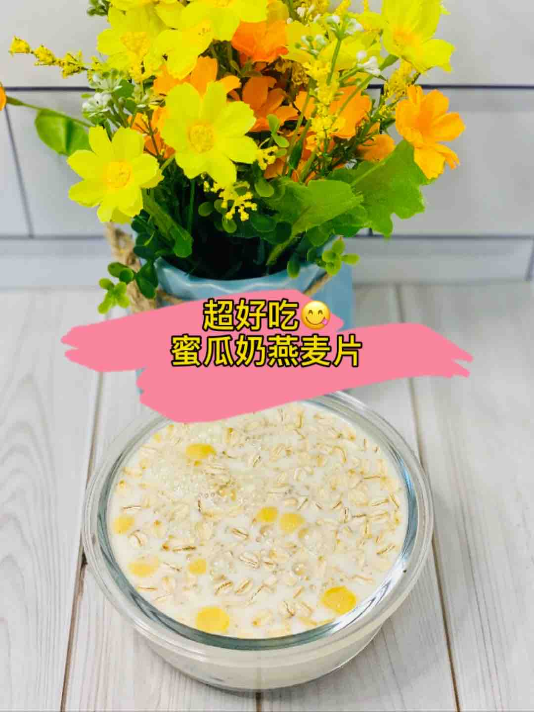 快手下午茶-蜜瓜奶燕麦片