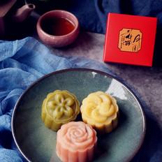 果蔬桃山月饼