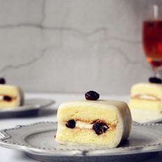 冰皮蔓越莓蛋糕