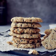 燕麦粗纤芝麻饼干