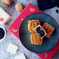 黑芝麻核桃馅月饼的做法