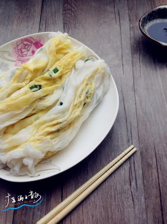 鸡蛋肠粉的做法