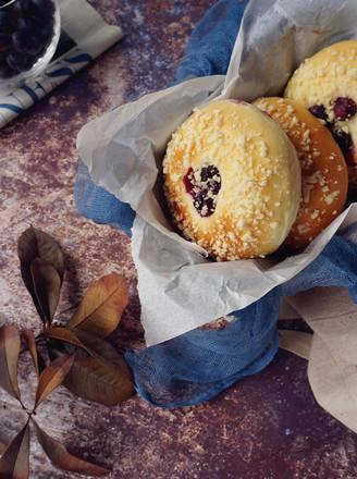 蓝莓酥粒面包的做法
