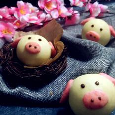 萌萌哒小猪月饼